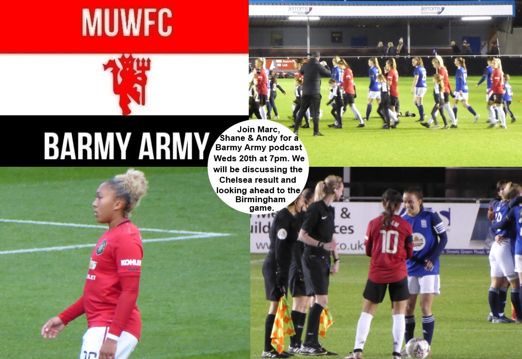 Join @iammarchenry, @shanelthiggs & @sl8r7 on Weds 20th Jan, for a Barmy Army podcast special. We will be discussing the result from the game vs Chelsea, whilst looking ahead to our up and coming game vs Birmingham  #MUWomen #MUWFC #BarclaysFAWSL #Youtube