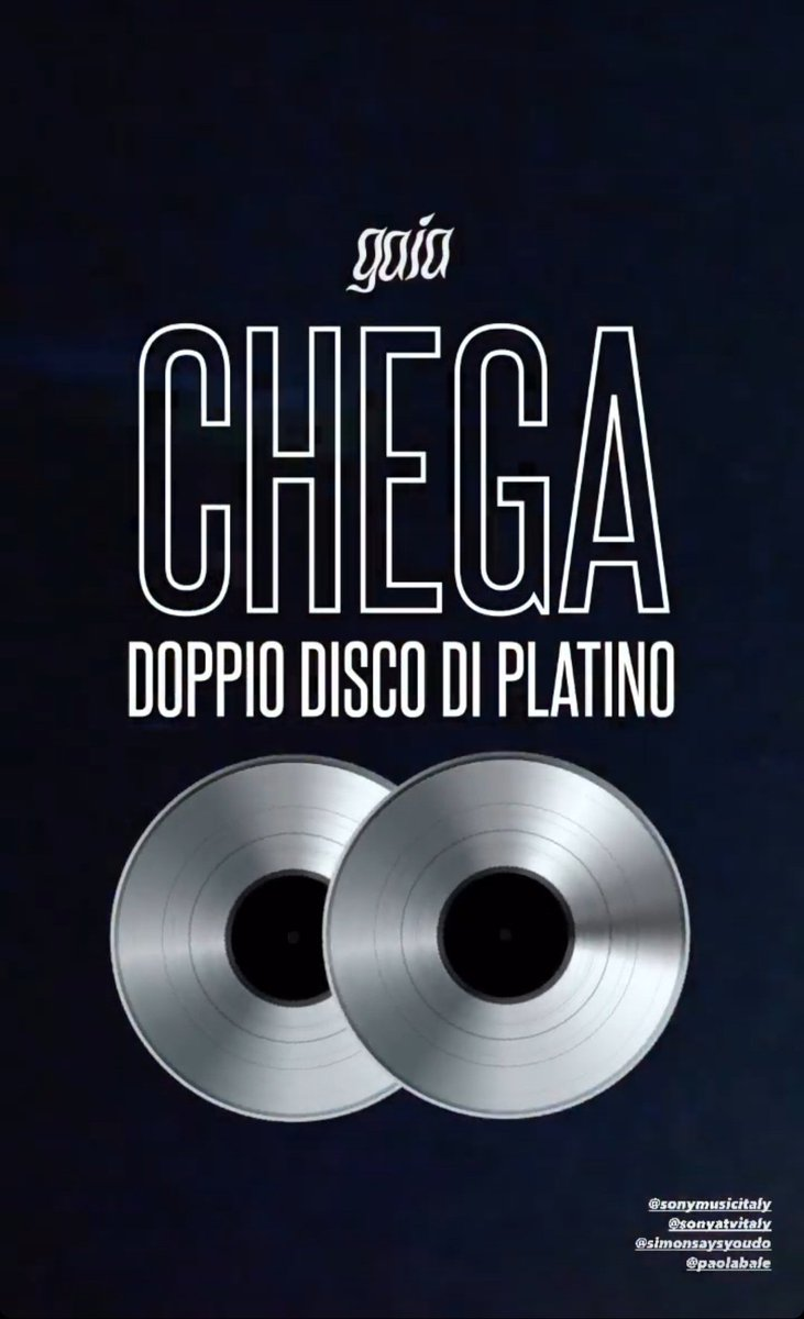 #ChegaDoppioPlatino