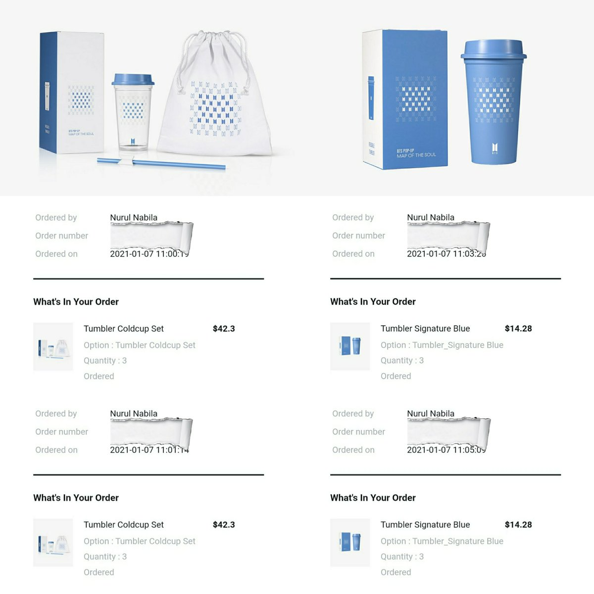 [PREORDER] #BTS_POPUP #MAP_OF_THE_SOUL Tumbler Coldcup Set & Tumbler Signature Blue (7-24/1). ❣  Secured incoming stocks - FPFS. 😻  Coldcup Set: 🏷 RM90 Signature Blue: 🏷 RM50 📦 TBA  #Weverse #BTSARMY #Malaysia #PreOrder  📣  🔁 Help RT @BTStrading_MY