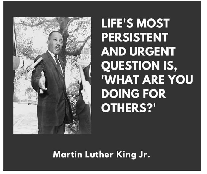 What are u doing for OTHERS?!! #MLKDay