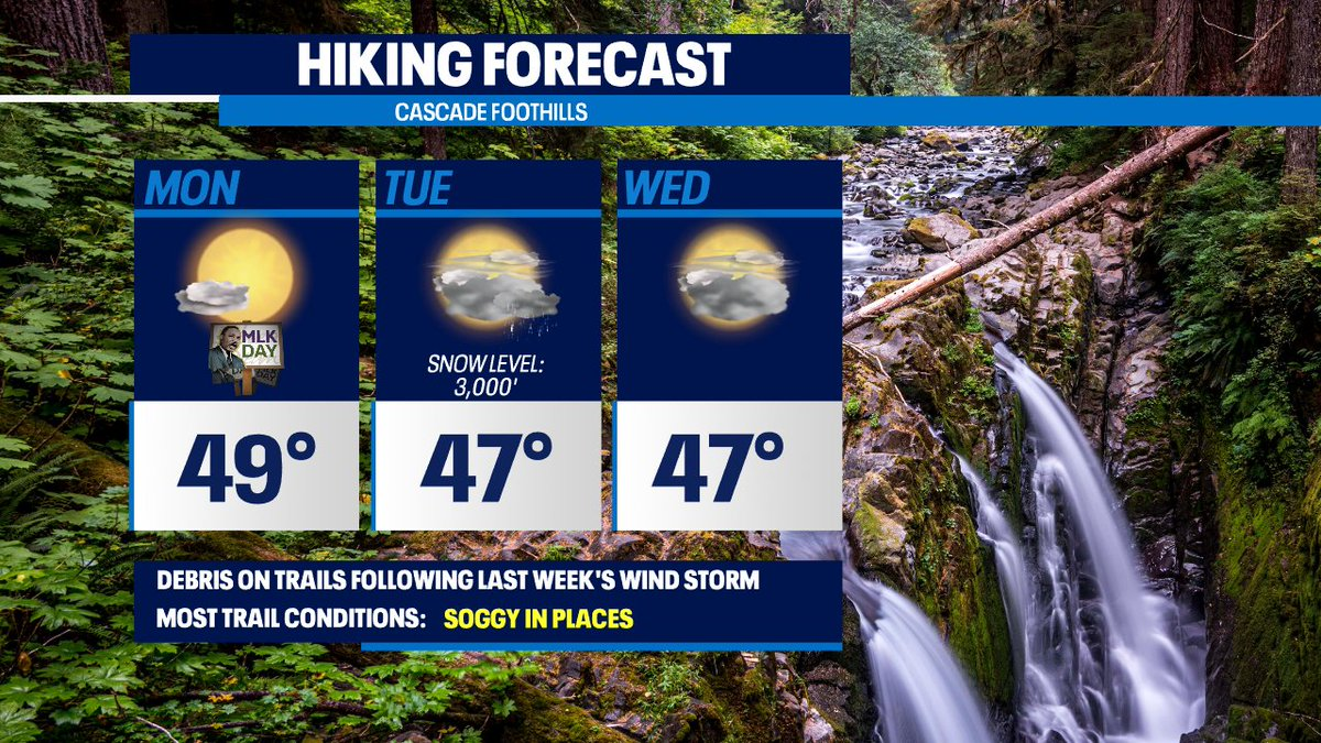Nat'l parks are free today for the #MLK2021 holiday!  @MountRainierNPS @NCascadesNPS @OlympicNP great by the afternoon. Trails in general will still have debris from last week's big wind storm.   #Q13FOX @WxVillegas @MJMCDERMOTT @GraceLimWX @ErinMayovsky