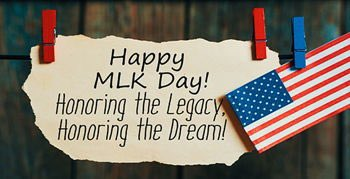 Happy Martin Luther King Jr. Day!  Today we celebrate the legacy of a man who dedicated his life to others.  #MLKDay #IHaveADream