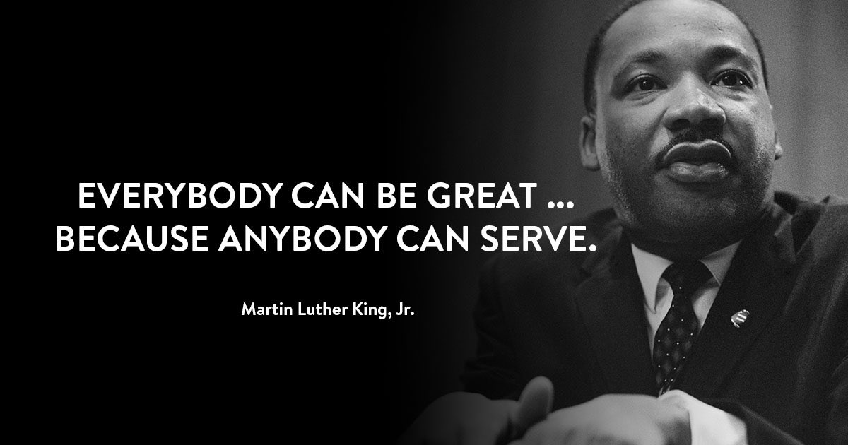 Honoring the legacy of Dr. Martin Luther King, Jr., today, by being serving others. #MLKDay #MLKDayofService