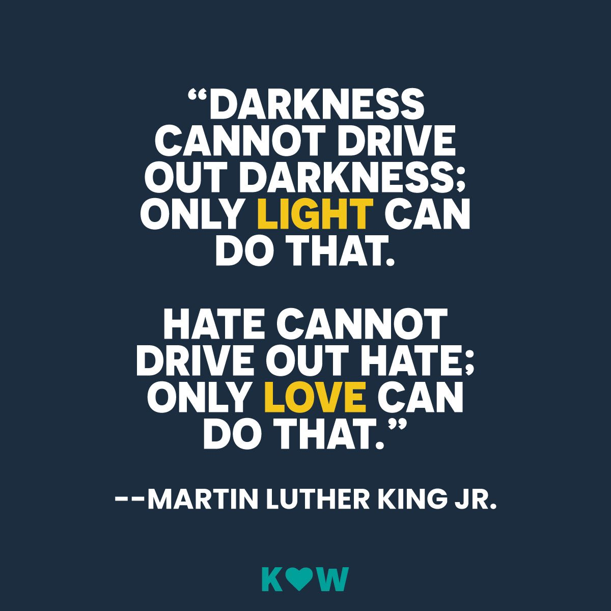 Today we honor the legacy of Martin Luther King Jr., whose message of kindness continues to inspire around the world.  #KindnessWin