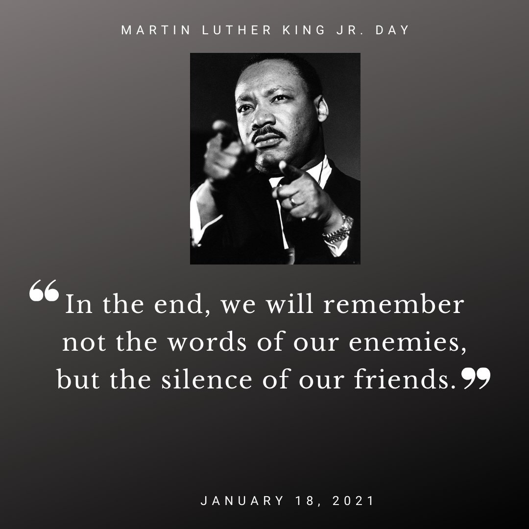 Celebrating the  life and legacy of Martin Luther King Jr. as we embrace his timeless message of hope and healing.  #Ihaveadream #equality #MLK #inthistogether