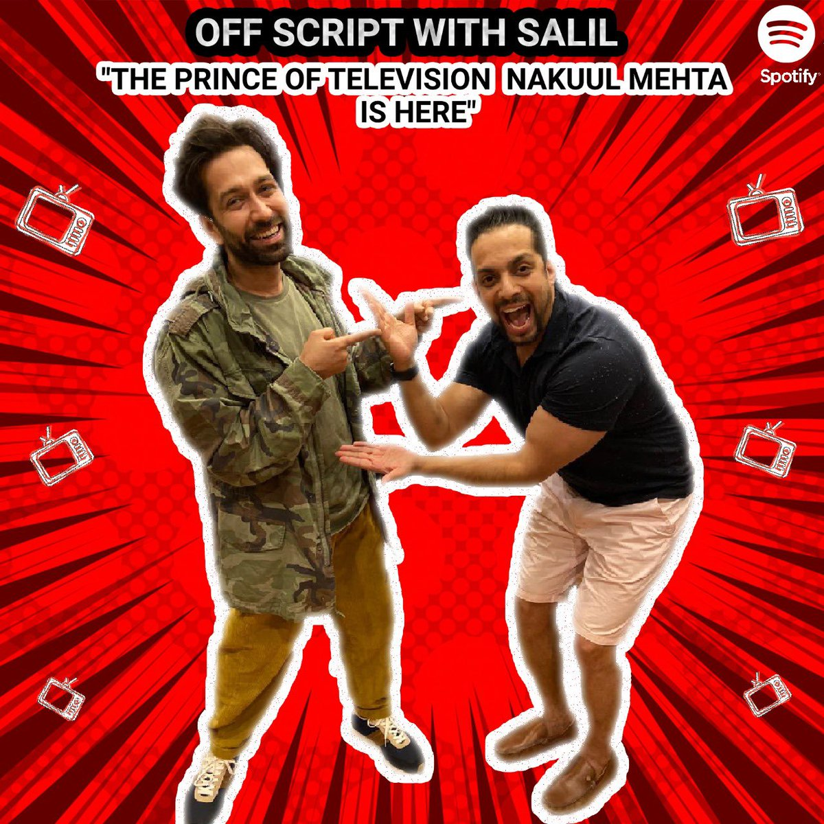 "His ""burdaaaay"" just went ... so tht this was the perfect ""belated gift for our #prince @NakuulMehta  Was one of the highlights of 2020 on @spotifyindia    Guve it a listen #offscriptwithsalil #nakulmehta #podcast #salilacharya"