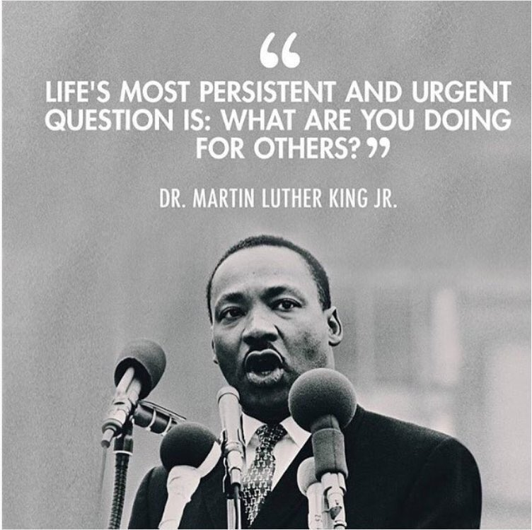 Words to live by. #MLKDay