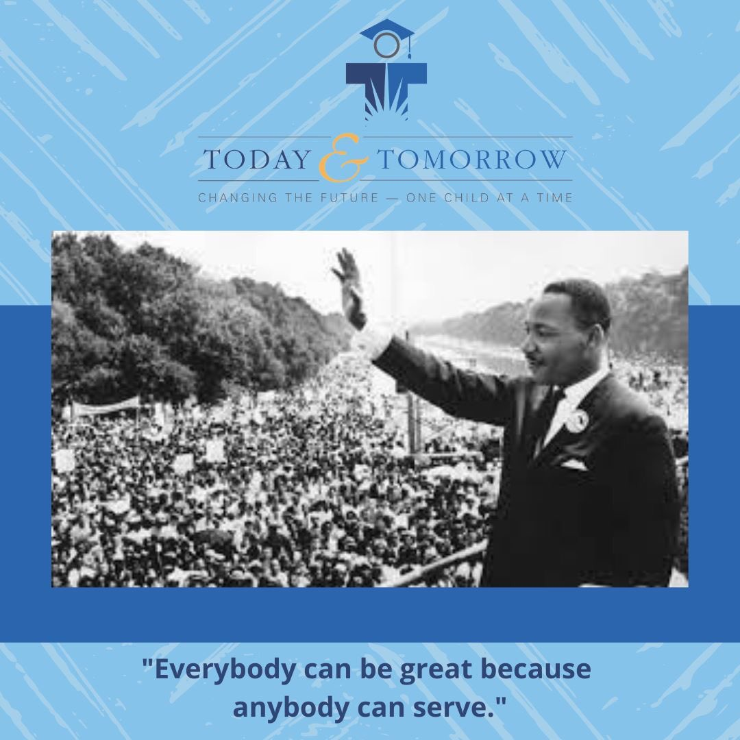 """Everybody can be great...because anybody can serve.""  Today, TTEF honors the life and legacy of Dr. Martin Luther King Jr. #TTEF #MLKDay"