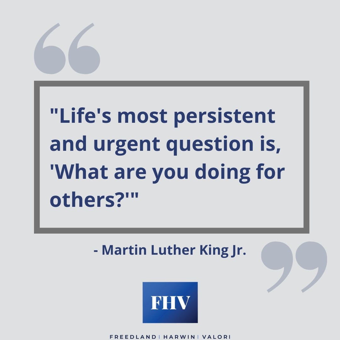 """""""Life's most persistent and urgent question is, 'What are you doing for others?'"""" - Martin Luther King Jr. #MLKDay"""