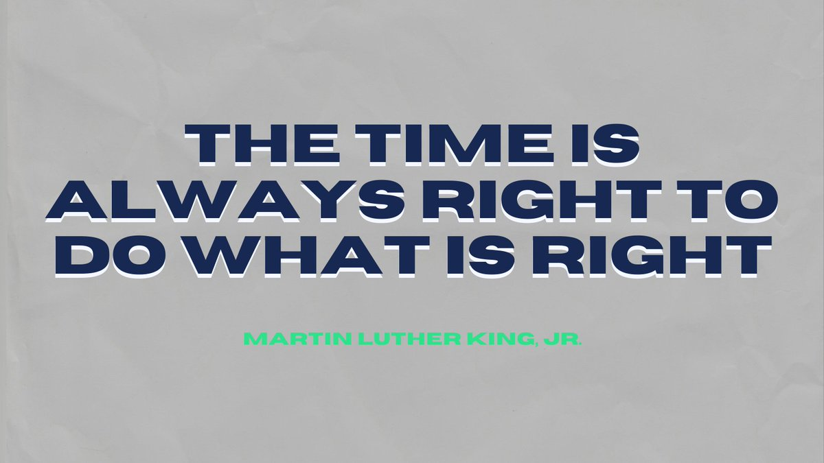 """A quote from Bernice King, MLK's daughter regarding #MLKDay:  """"My father's legacy is about much more than service projects. If you plant a tree, also educate about environmental injustice + racial injustice. Service matters. Systemic change alleviates WHY the service is needed."""""""