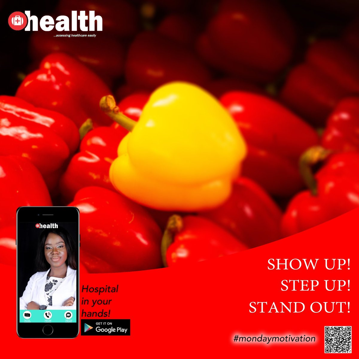 Show up! Step up! Stand Out! @Ohealthng you productivity is our priority.  Stay safe #COVID19 #mondaythoughts