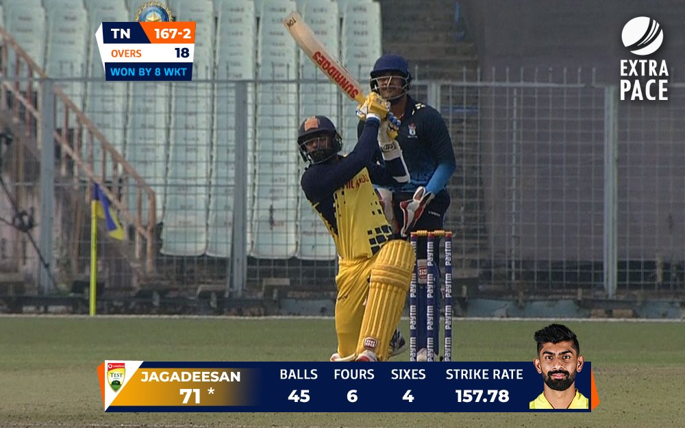 5⃣ Matches, 4⃣ Fifties 👏👏  What a tournament Narayan Jagadeesan is having as he completes another half-century in the #SyedMushtaqAliT20! 👌👌 #TNvBEN #Jagadeesan