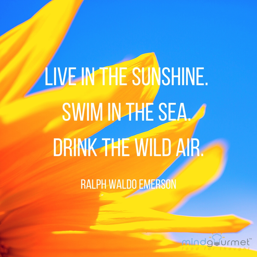 Allow yourself to delve into the soft, slow days of summer. #mindgourmet #summer