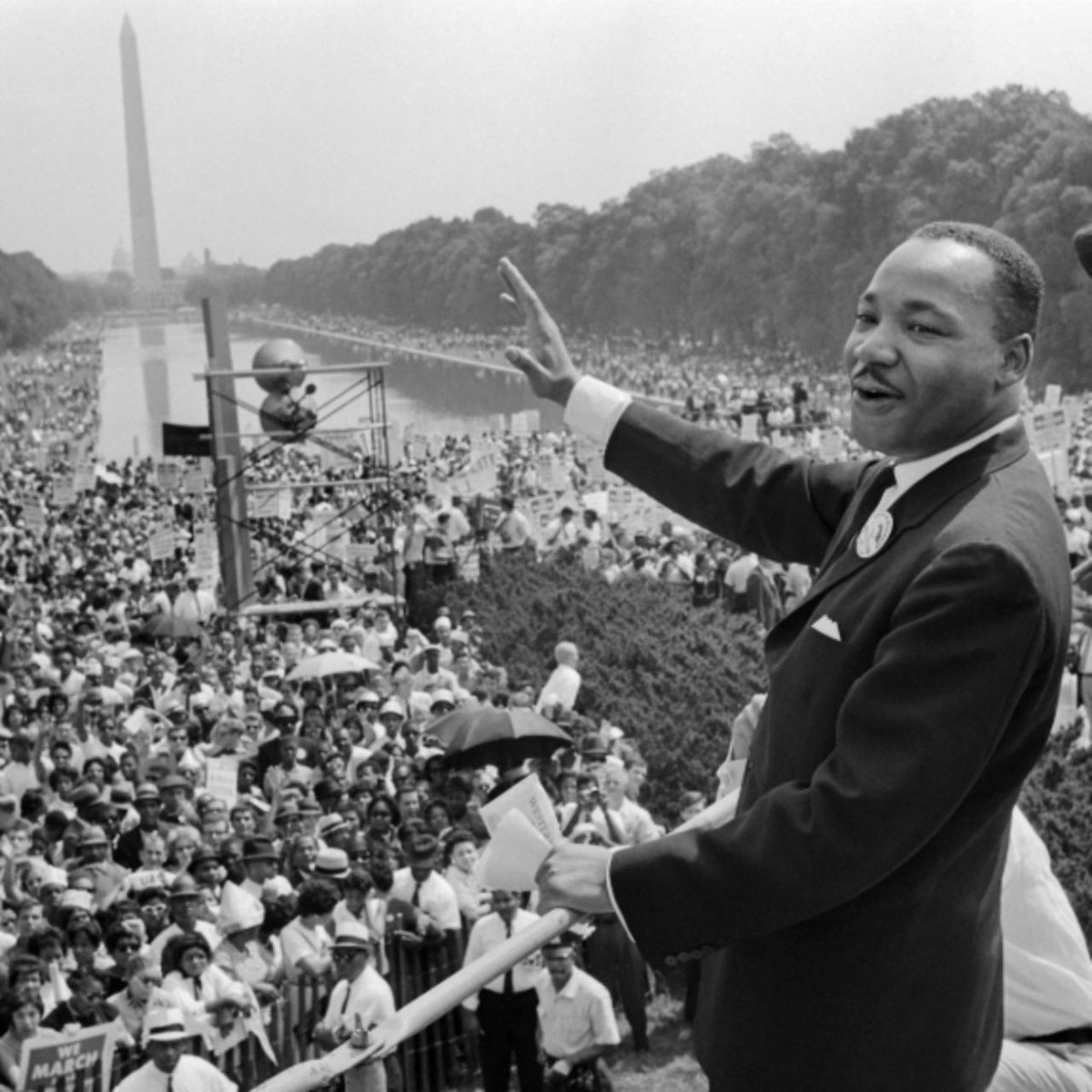 "Remembering Dr. Martin Luther King Jr today. ""We are caught in an inescapable network of mutuality, tied in a single garment of destiny."" Let's play nice out there people, let's do something to make #America better! #MLK #mlkday"
