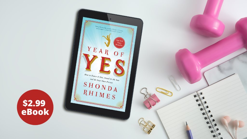 Starting off the New Year with new goals?   Get started with rockstar producer, author, and creator @shondarhimes's bestselling book #YearOfYes!  For a limited time download the eBook for only $2.99—dive in today! ➡️