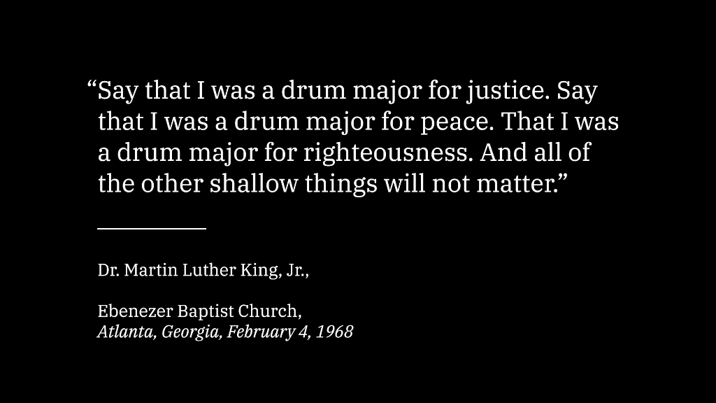 Committing his life to serving others, Martin Luther King Jr. focused on making the world a more just place. Today, as the push for progress continues, we honor the legacy of Dr. King. #MLKDay