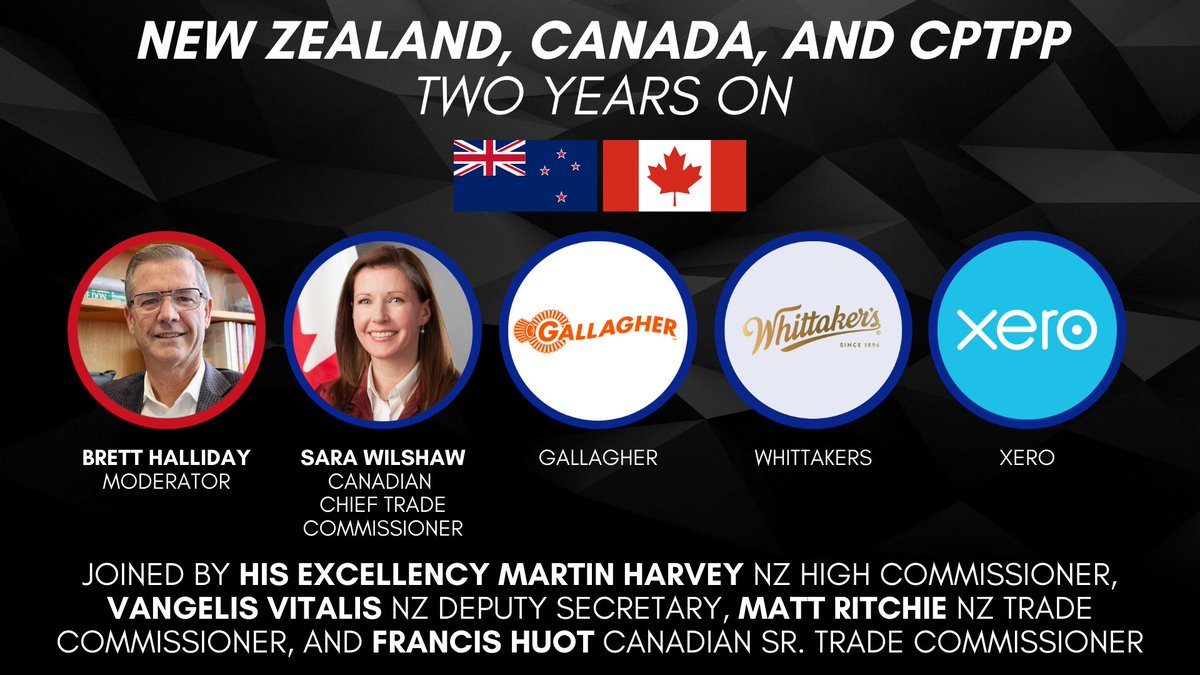 Join New Zealand businesses and trade representatives, as well as Canadian trade representatives to discuss the opportunities available under CPTPP.  🇳🇿🌏🇨🇦  Register here➡️   #CPTPP / #NZTrade / #CanadaTrade