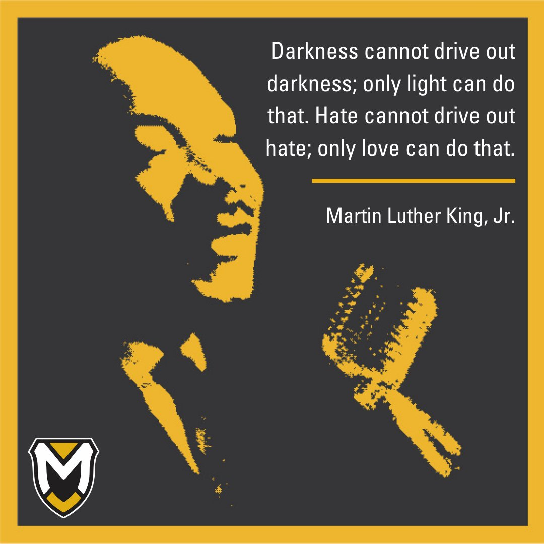 Darkness cannot drive out darkness; only light can do that. Hate cannot drive out hate; only love can do that.  #MondayMotivation #MLKDay