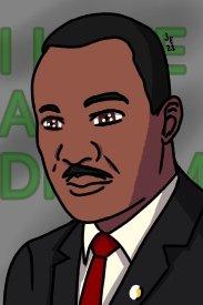 Today is Dr. Martin Luther King Jr Day.   #drmartinlutherkingjr #martinlutherking #martinlutherkingday #martinlutherkingjr #portrait #ihaveadream #ibispaintx #ipadart #ipaddrawing #art #artsy #artist #blackhistory #nycartist #brooklynartist