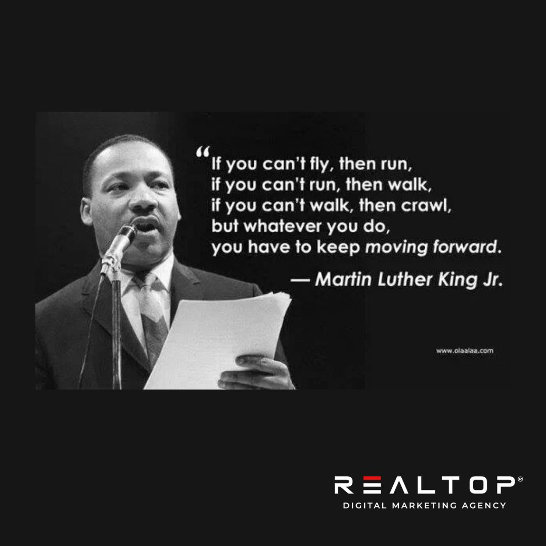 """""""You have to keep moving forward."""" - Martin Luther King Jr   #neverquit #mlk #ihaveadream"""