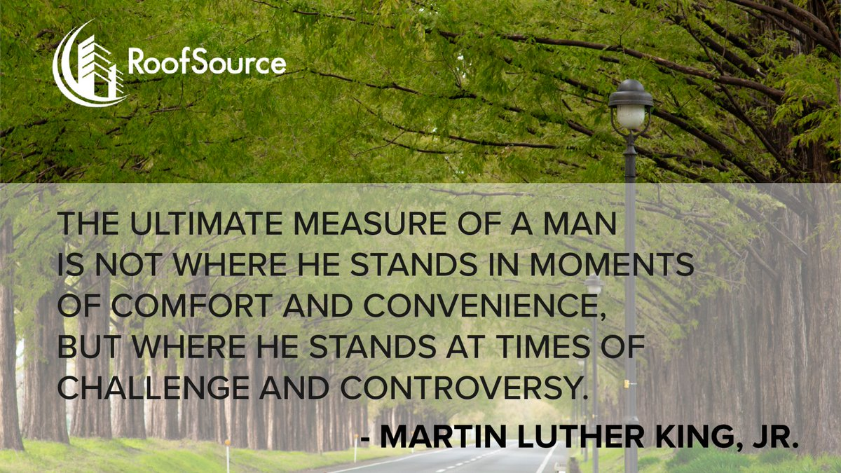 The ultimate measure of a man is not where he stands in moments of comfort and convenience, but where he stands at times of challenge and controversy. —Martin Luther King, Jr.  #MLKDay, #MartinLutherKingJr #IHaveADream