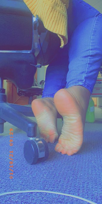 1 pic. Monday mornings at my desk are always a little better with you licking my soles #solemate #soleslover