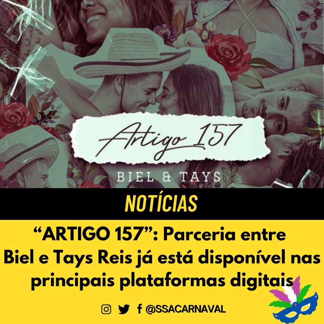 A música do casal #Tael já se encontra disponível nas principais plataformas digitais. #TaysReis #Biel #SSACarnaval