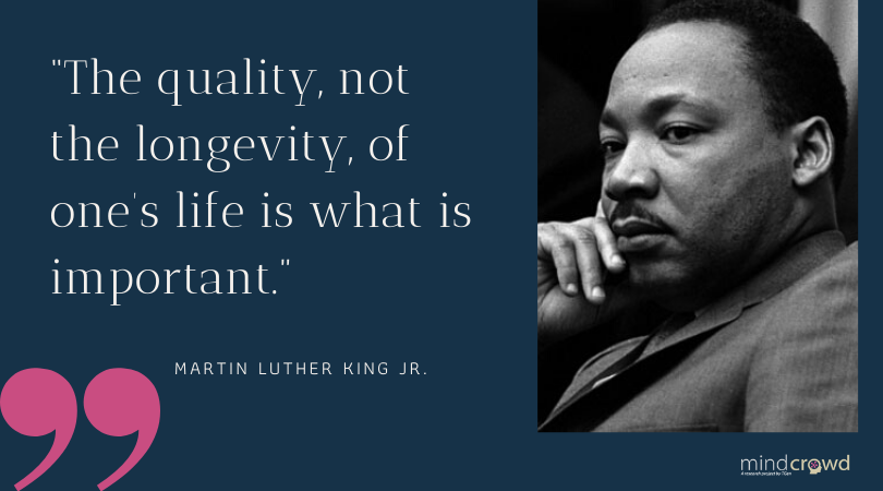 """""""The quality, not the longevity, of one's life is what's important."""" - Martin Luther King Jr  #MLK #MLKDay #MondayMotivation #CivilRights"""