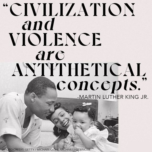 """#AnalysisNyTimes honors Martin Luther King, Jr. Day: """"Civilization and violence are antithetical concepts.""""  #MLKDAY"""