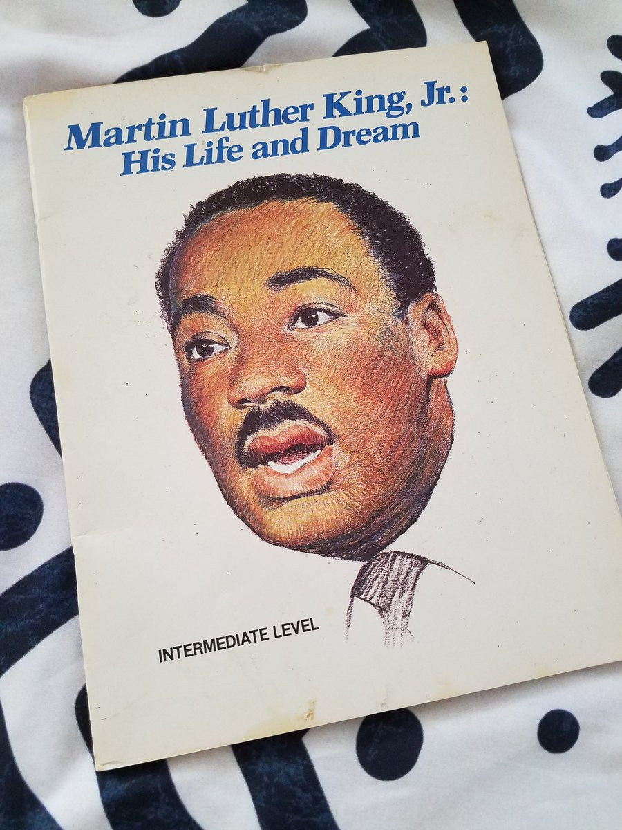 I still have this Dr. Martin Luther King, Jr. workbook I got from school back in Los Angeles that I never did. A little advanced for my 2nd grader, but he's about to find out!🤓 Copyright 1986 #MLKDay #MLK