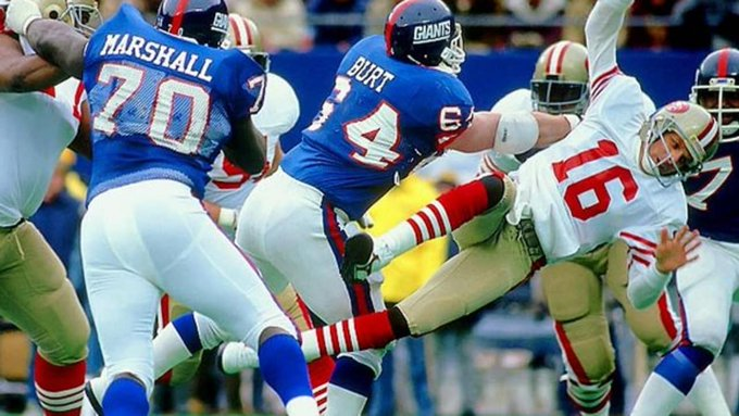 Happy Birthday to Jim Burt who I believe had the biggest and best hit on Joe Montana in franchise history.