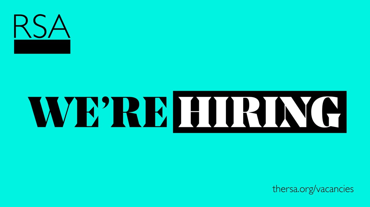 Do you want to work with RSA Fellows to promote engagement in our work? We are recruiting a Fellowship Areas and Engagement Manager for the North of England, Northern Ireland and the Republic of Ireland. Find out more & apply by 8 Feb: https://t.co/B3GwHoxhC9 https://t.co/8szn6DOVvD