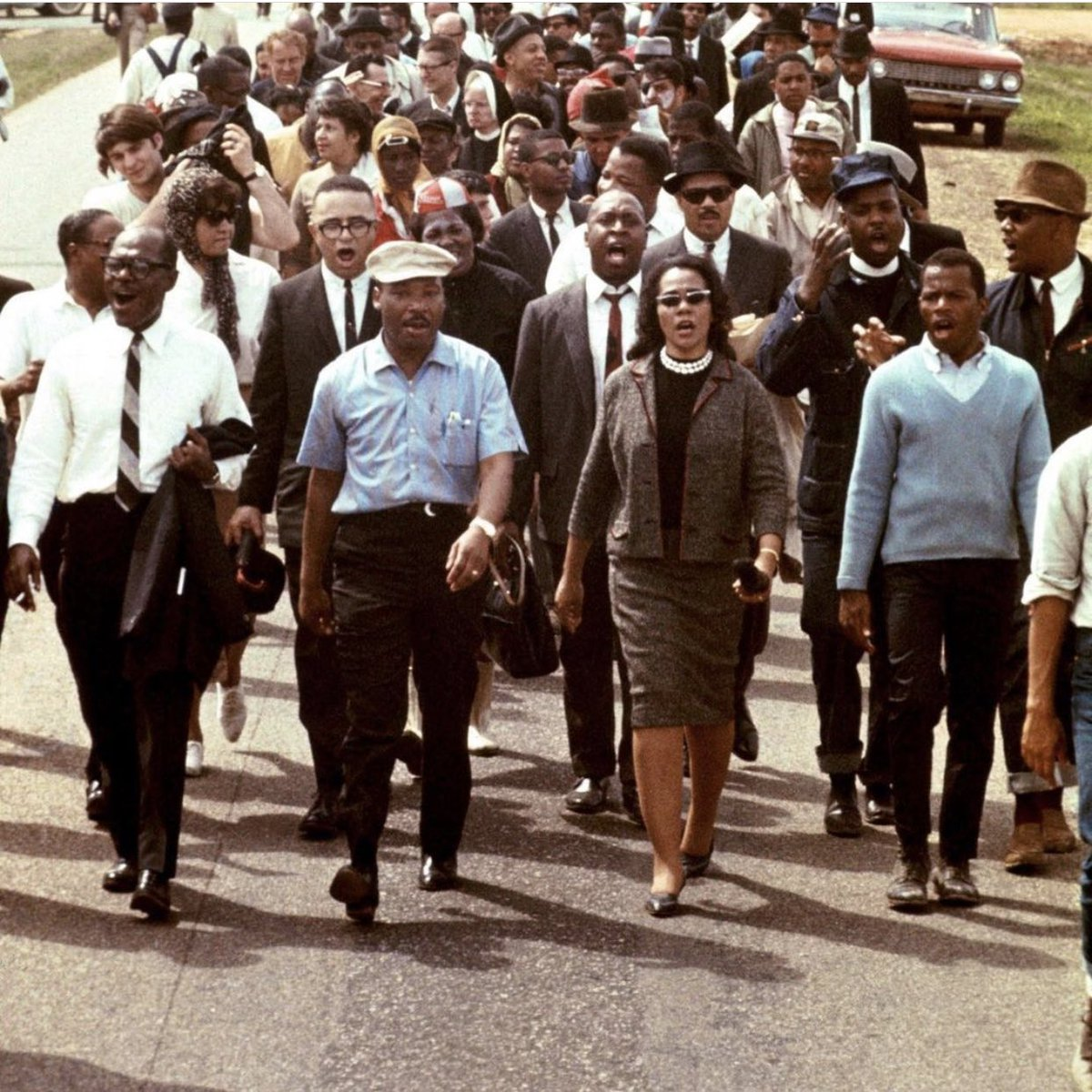Remembering #MLK for his radical vision of beloved community, his tenacious fight against militarism, poverty, racism, and for the way he exemplified agape love. We honor you, King. We also honor #CorettaScottKing for carrying on the King legacy with grace and unwavering clarity.