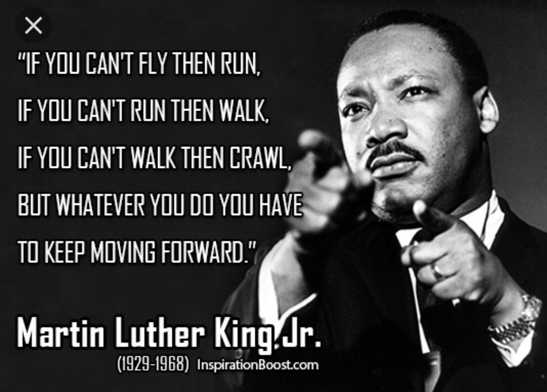Happy #MartinLutherKingDay   #MLKDay2021 Honoring this man who had the courage & bravery to fight for what he believed in. ❤️Have a great #Monday & remember to always keep going & keep moving forward. #Dontletanyonestopyou #TogetherStronger #Wecanmakeadifference #MondayMotivation