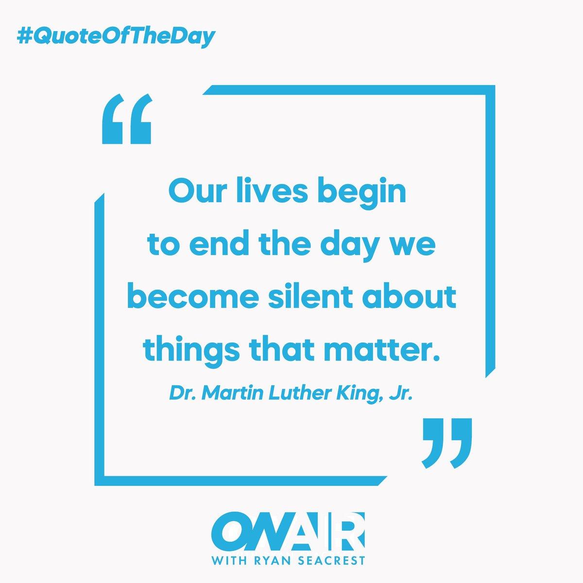 #MLKDay 💙 #QOTD