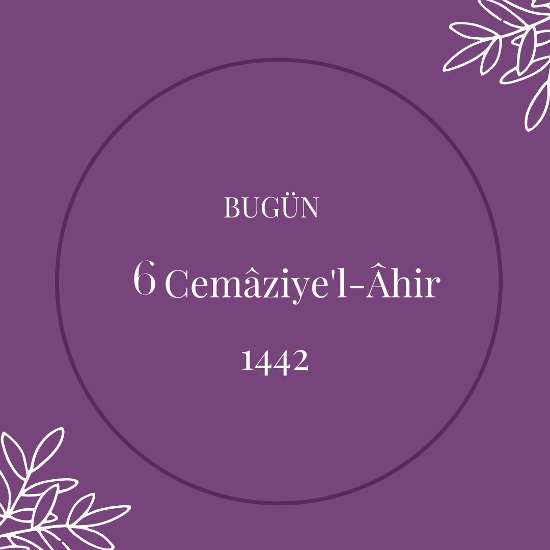 RT @hicri_takvim: #HicriTakvim #Cemaziyelahir #Hicri1442 https://t.co/1y3cQaMm7j https://t.co/15UZmRs0OZ