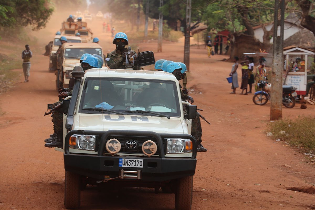 #photooftheday Bangassou (#CAR🇨🇫) is under the full control of Moroccan & Rwandan peacekeepers peacekeepers . Following an ultimatum issued by the Mission Force to armed groups on 15 Jan21, the latter abandoned the positions they had occupied since 3 Jan this year & fled the city