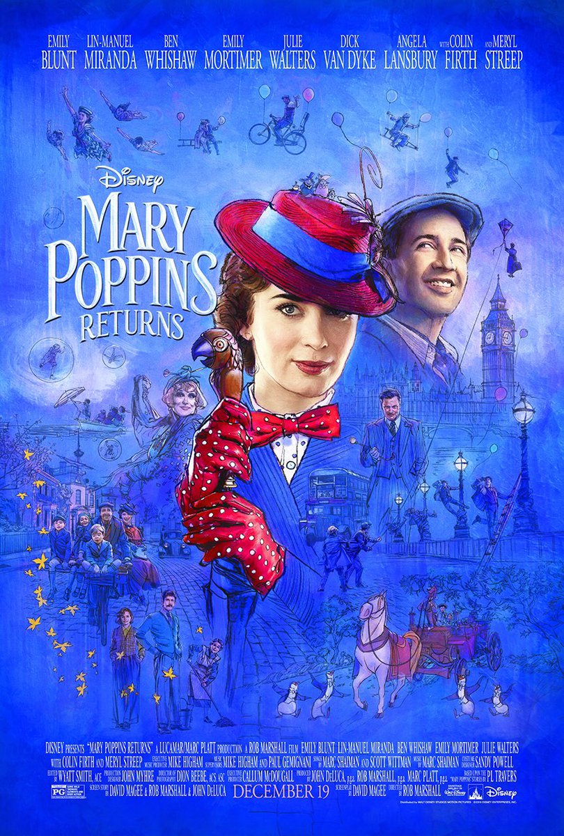 Tonight I Will Be Watching Mary Poppins Returns On Disney+ As Part Of Musical Mondays! #MusicalMonday #MusicalMondays #WaltDisneyArchives #MaryPoppinsReturns #MaryPoppins #EmilyBlunt #LinManuelMiranda #DisneyPlus #Disney #D23 #AtHomeWithD23 #WaltDisney #DisneyMovies