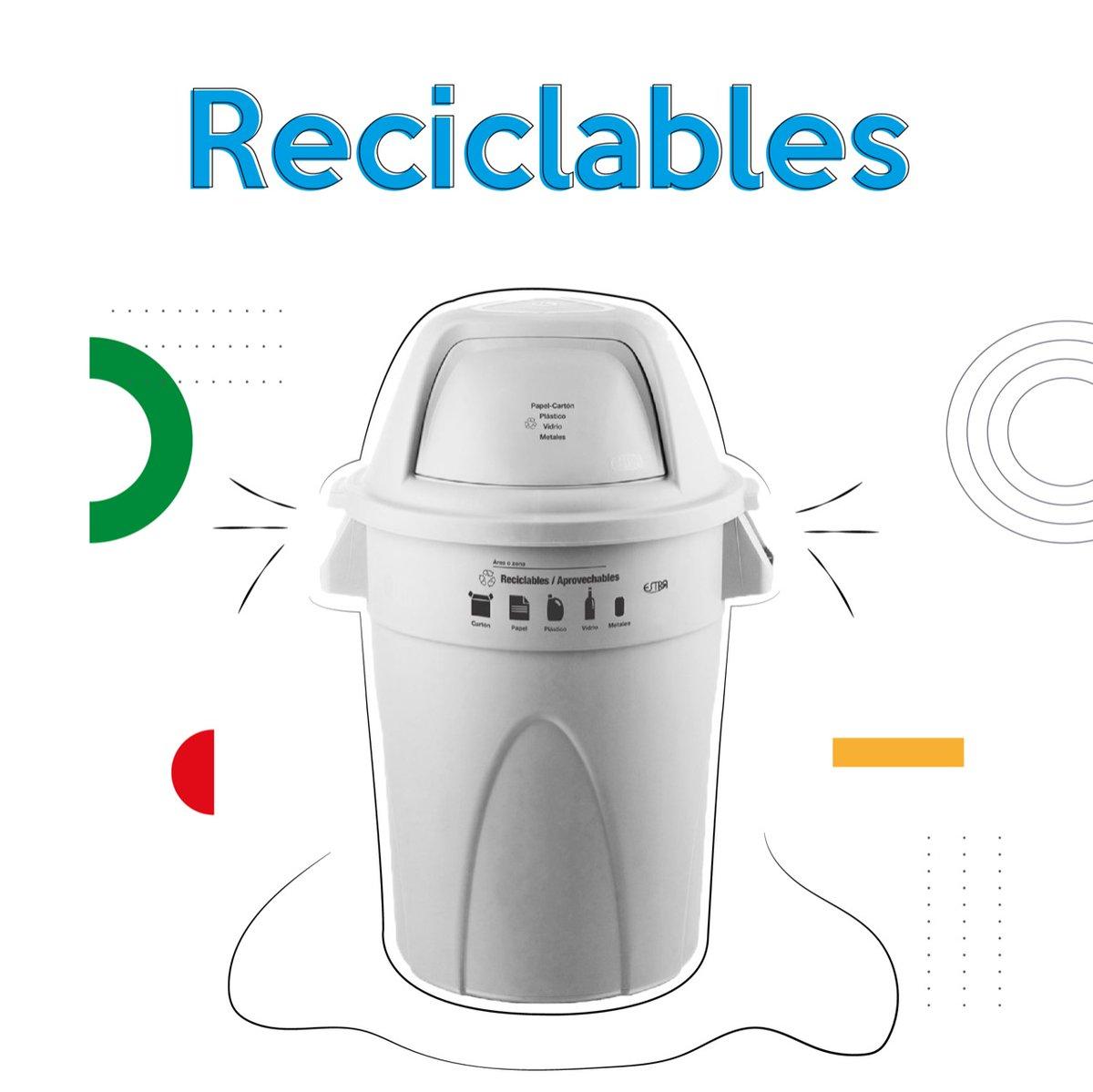 ⚪️ #Blanco:   ♻️Residuos aprovechables limpios y secos, como plástico, vidrio, metales, papel y cartón.   🗣Separa correctamente por color ⚪️🟢⚫️
