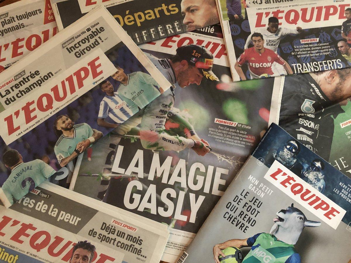 Grève à L'Équipe : des centaines de sportifs et de personnalités affichent leur soutien au journal https://t.co/7KXwYq8dPY https://t.co/VQ0PZgFeXS