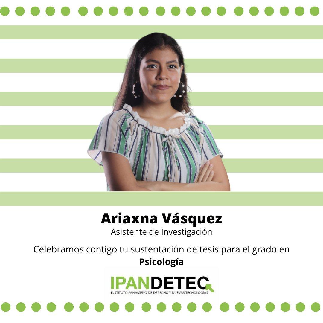 Hoy extendemos una felicitación para nuestra Asistente de investigación @VAriaxna por su sustentación de tesis para el grado en Psicología.  Nos sentimos orgullosos de contar contigo en la defensa y promoción de los derechos digitales.  ¡Salud por este gran logro!