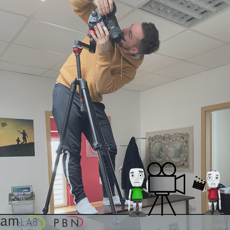 🎬During the making of a promotional video, we find ourselves in a number of strange situations.  🤪Like this one.  ⏳Details coming soon!   @danubechance2 @Interreg_Danube  #amlabhungary #behindthescenes