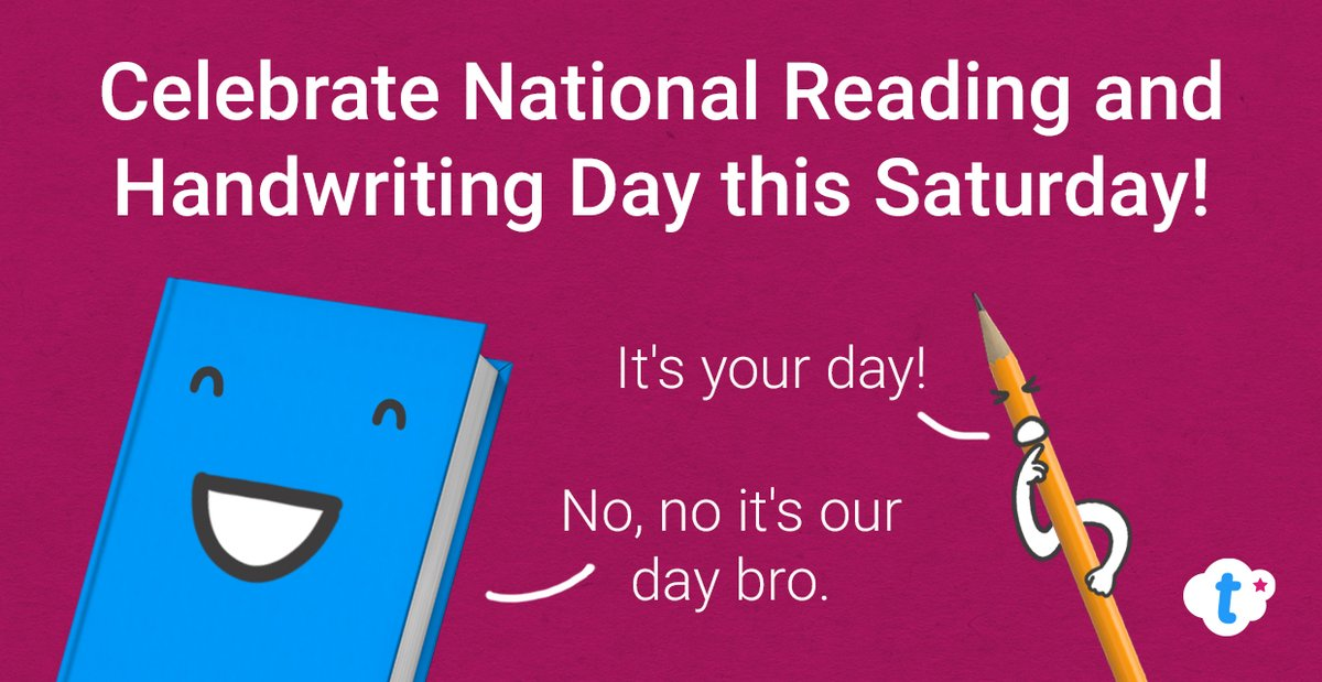 Here's a little heads up for you - this Saturday (23rd) marks both #NationalHandwritingDay AND #NationalReadingDay !  If you want to get involved in either, read on for a few ways that you can...