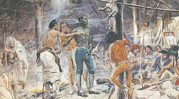 "#223: York York was the slave that aided Lewis and Clark on their expedition. Encountered during their journey were a group of Natives that had never seen a negro. Overwhelmed in awe, they tried to ""rub the black"" off of him, to see if he was a real man."