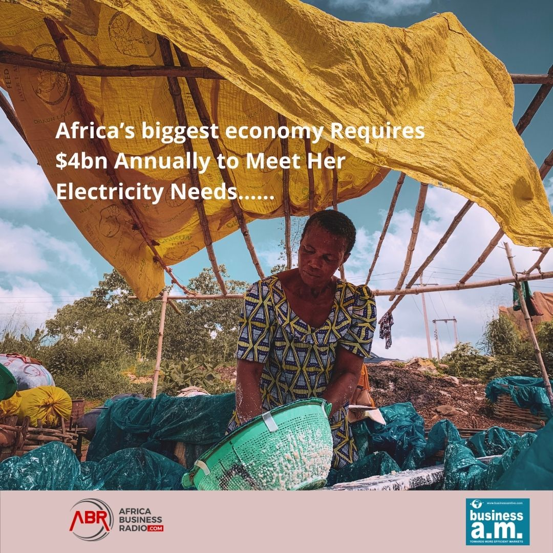 Africa's biggest economy Requires $4bn Annually to Meet Her Electricity Needs...... https://t.co/oLB4ScfAmO #mondaythoughts #electricity #Nigeria #podcast #africabusinessradio https://t.co/uH1zHi1dwN