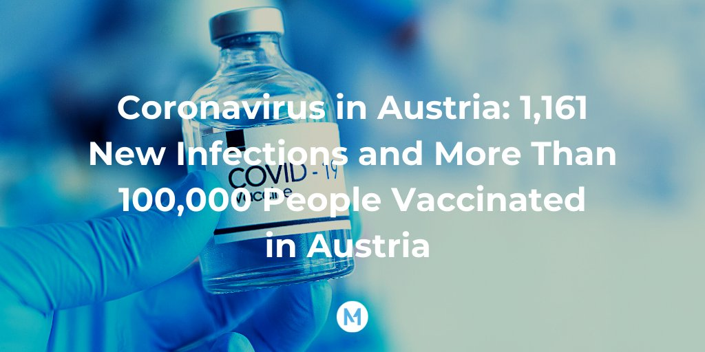#Thread #CoronaVirusUpdates #Austria   💉 This weekend, Austria has administered its 100,000th vaccine jab. That means that over 1.1% of the Austrian population has received a jab so far.  ➡️