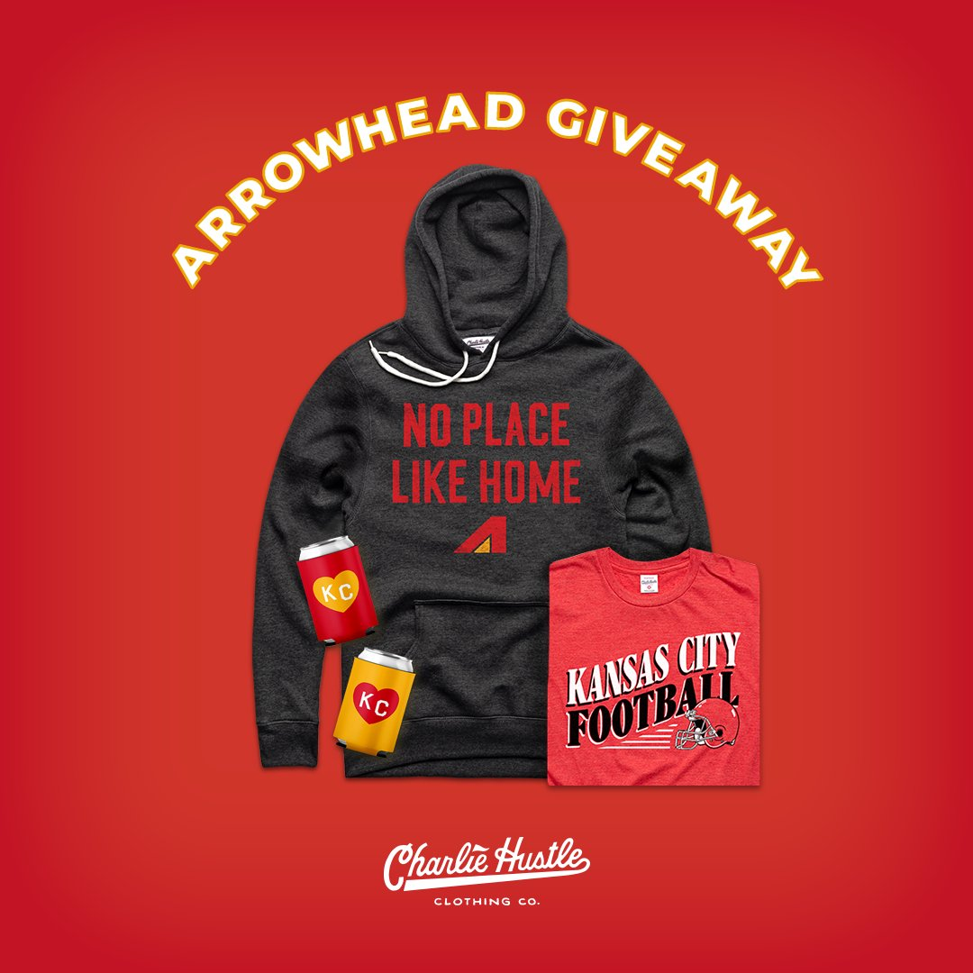 🔥🔥 VICTORY MONDAY GIVEAWAY 🔥🔥  @CharlieHustleCo wants you to be the best-dressed #Chiefs fan for the AFC title game!  Simply follow us & RT to win all of these items! We'll choose the winner on Tuesday, 1/19.