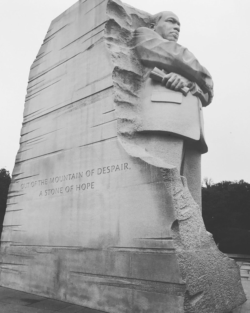 Out of the mountain of despair, a stone of hope...  Happy #MLKDay