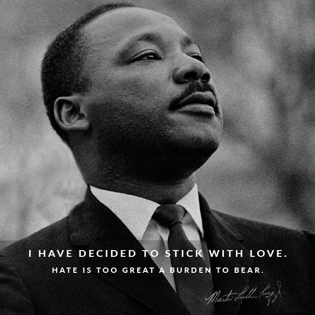 """ Today, more than ever, all of us can change the world if we choose love. ""   #MLKDay #ChooseLove #SpreadLoveAndLoveWillSpread"