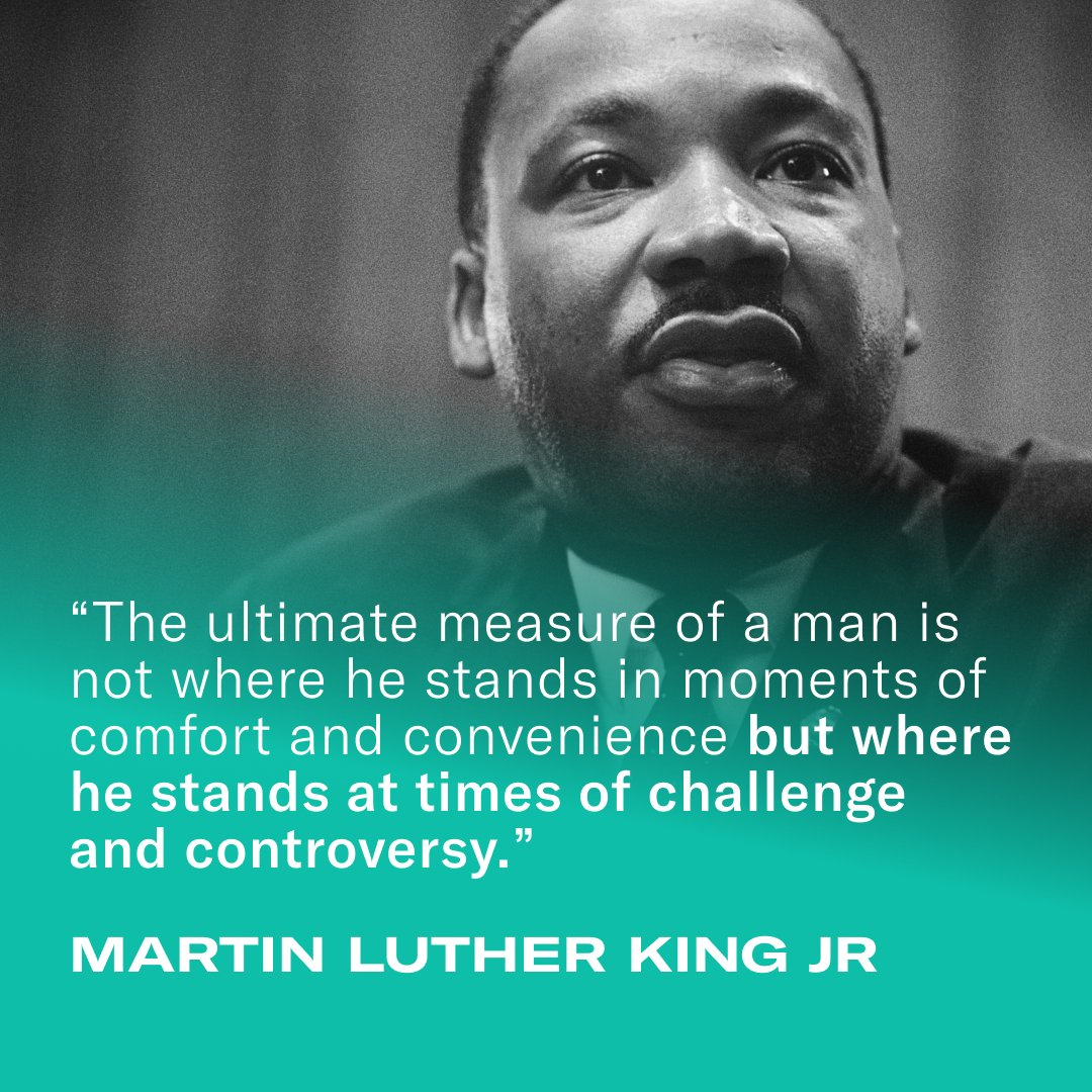 Let's all take a moment to reflect on the immense strength of Dr. Martin Luther King Jr. His monumental message of strength inspires us more this year than ever before. Never stop moving forward. Never stop building a stronger future for yourself and those around you. #MLKDay
